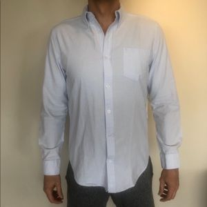 Baby blue button down five four NWT